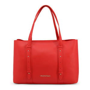Valentino by Mario Valentino Womens Red Shopper Bag with Zip - ALMA-VBS3UM01