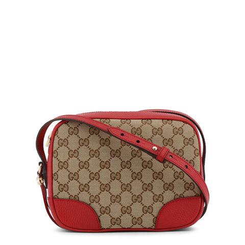 Gucci Womens Brown/Red Shoulder Bag with Zip Fastening - 449413_KY9LG