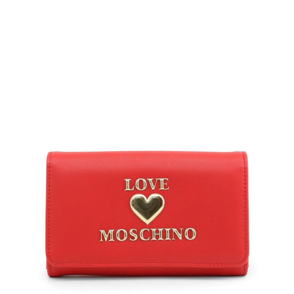 Love Moschino Womens Red Wallet with Front Logo - JC5607PP1BLE