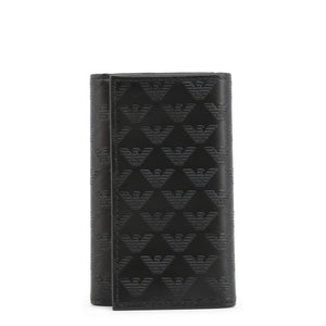 Emporio Armani Black Leather Key Holder - YEMG68-YC043