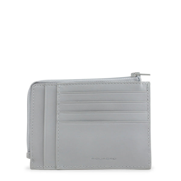 Piquadro Mens Grey Card Holder and Coin Pocket - PU1243B2