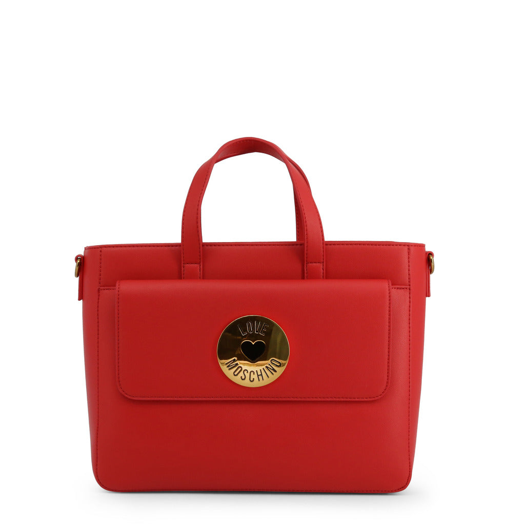 Love Moschino Womens Red Shoulder Bag with Zip Fastning - JC4048PP1ALG