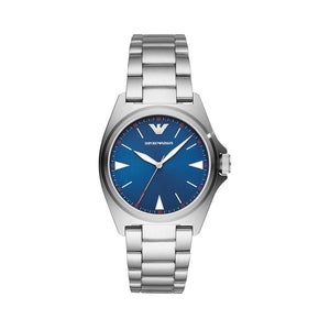 Emporio Armani Mens Silver Watch and Blue Face - AR11307