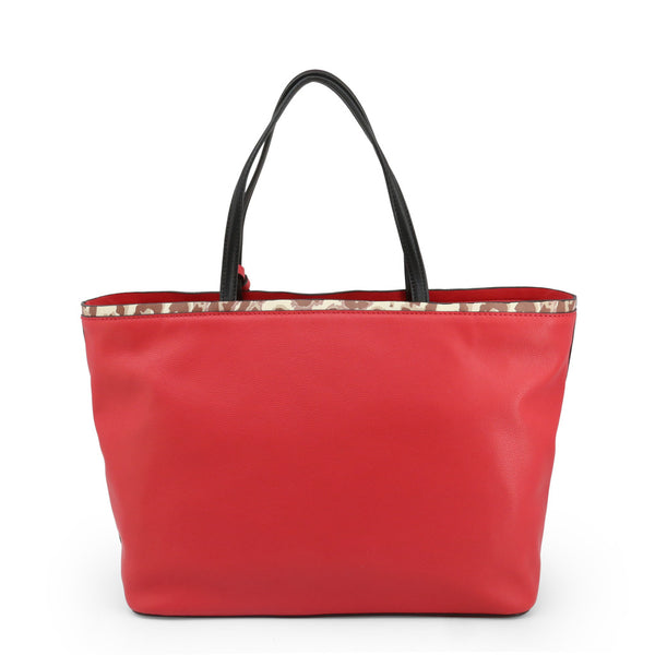 Trussardi Womens Red Shopper Bag with Zip Fastening - LIQUIRIZIA_75B00415-99