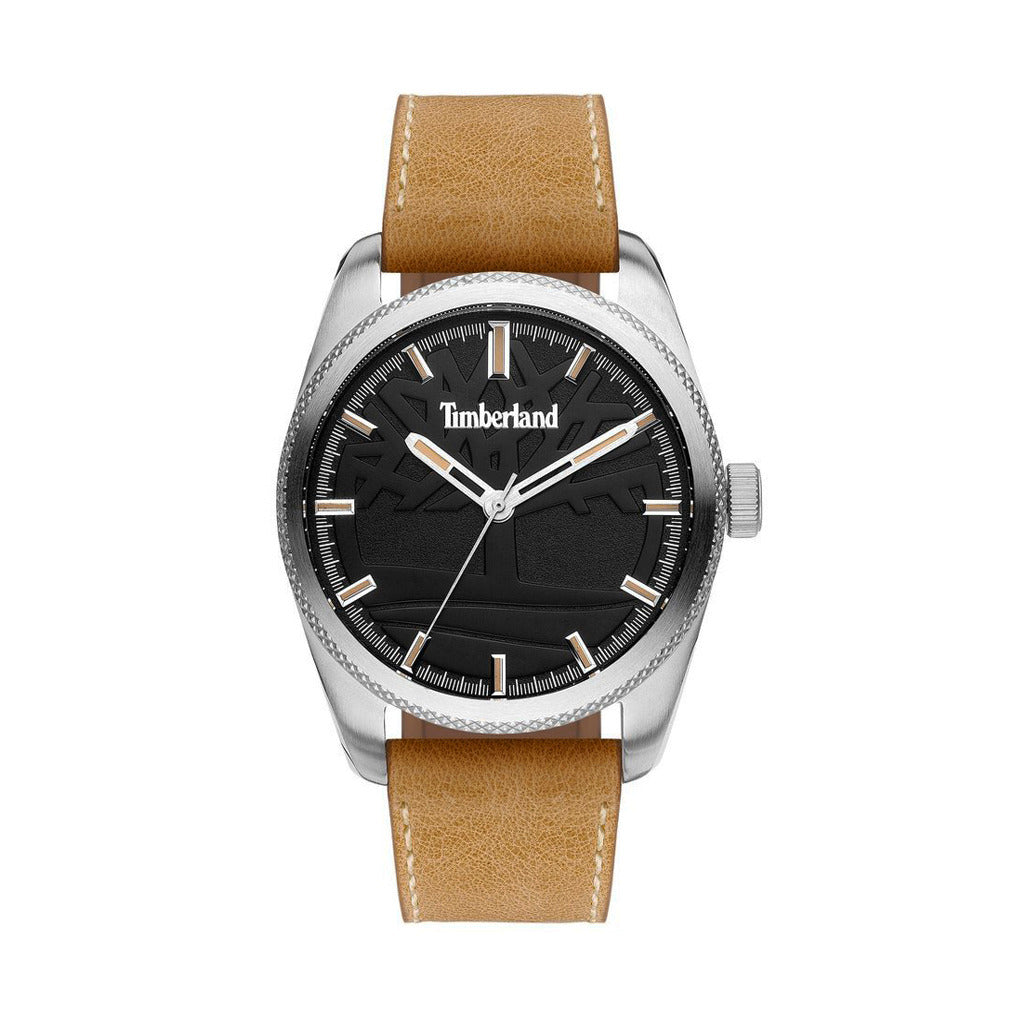 Timberland Mens Brown Leather Strap Watch- NEWBURGH_15577JS