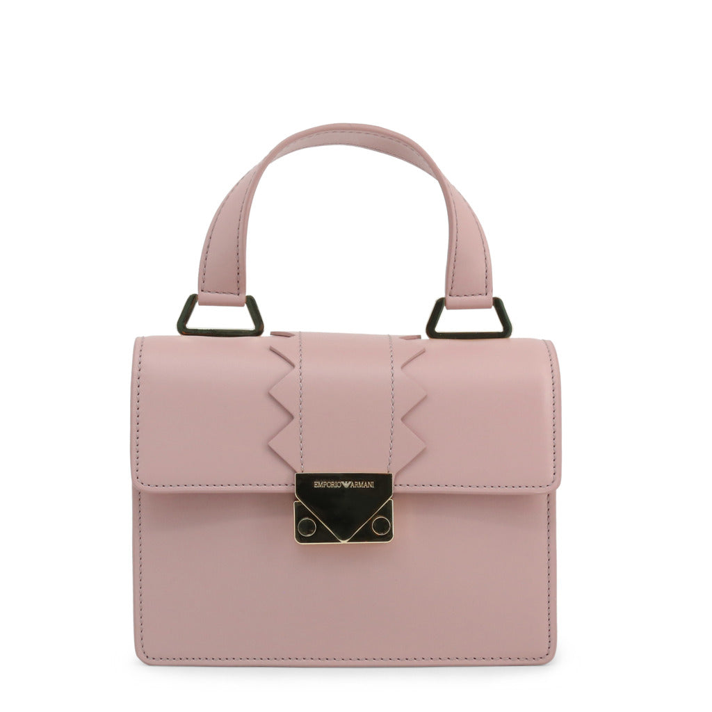 Emporio Armani Womens Pink Shoulder Bag with Removable Strap- Y3B075-YDC1A