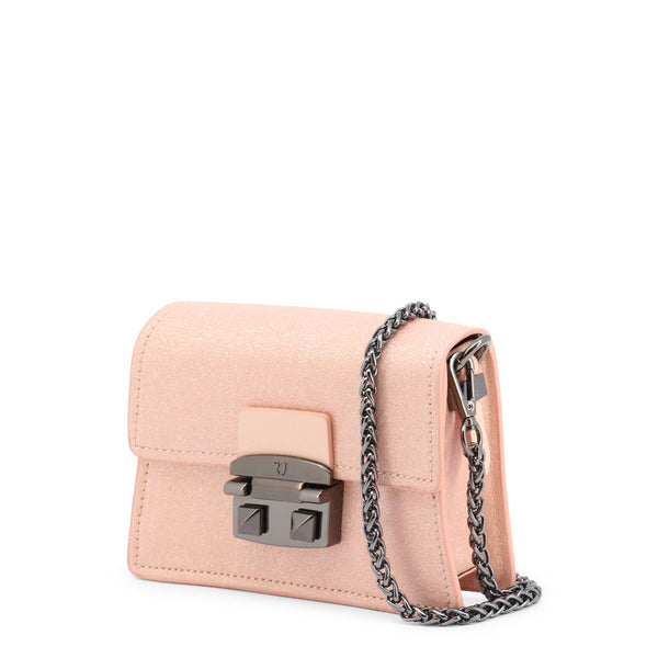 Trussardi Womens Pink Clutch Bag with Metallic Fastening - CORIANDOLO_75B00555-97