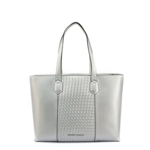 Emporio Armani Womens Grey Shopper Bag with Zip - Y3D134_YGF1E