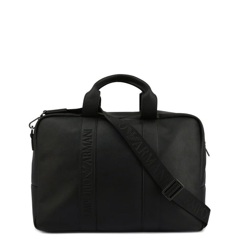 Emporio Armani Mens Black Travel Bag with Removable Straps- Y4Q088_YG89J