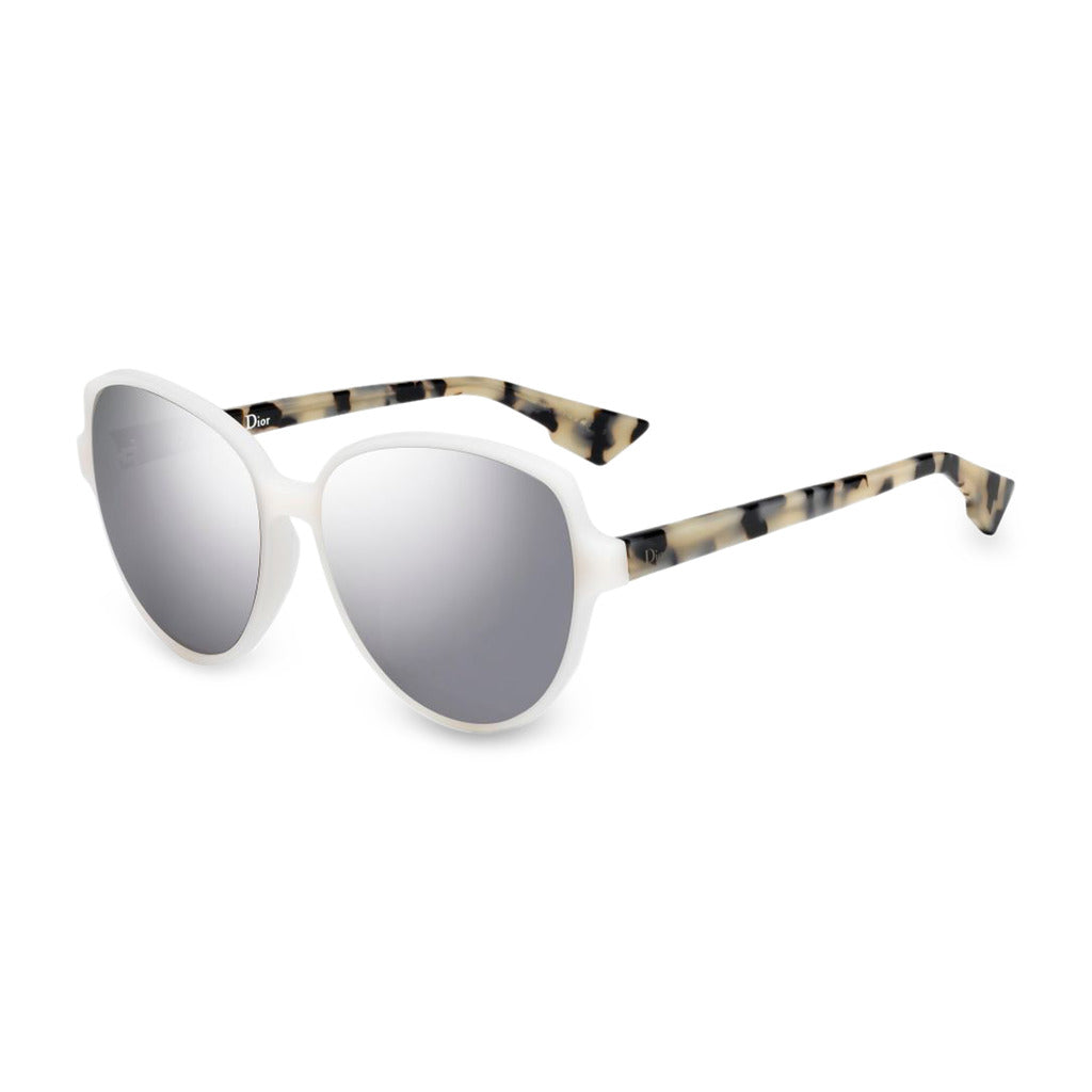 Dior Womens White Sunglasses with Patterned Arms - DIORONDE2