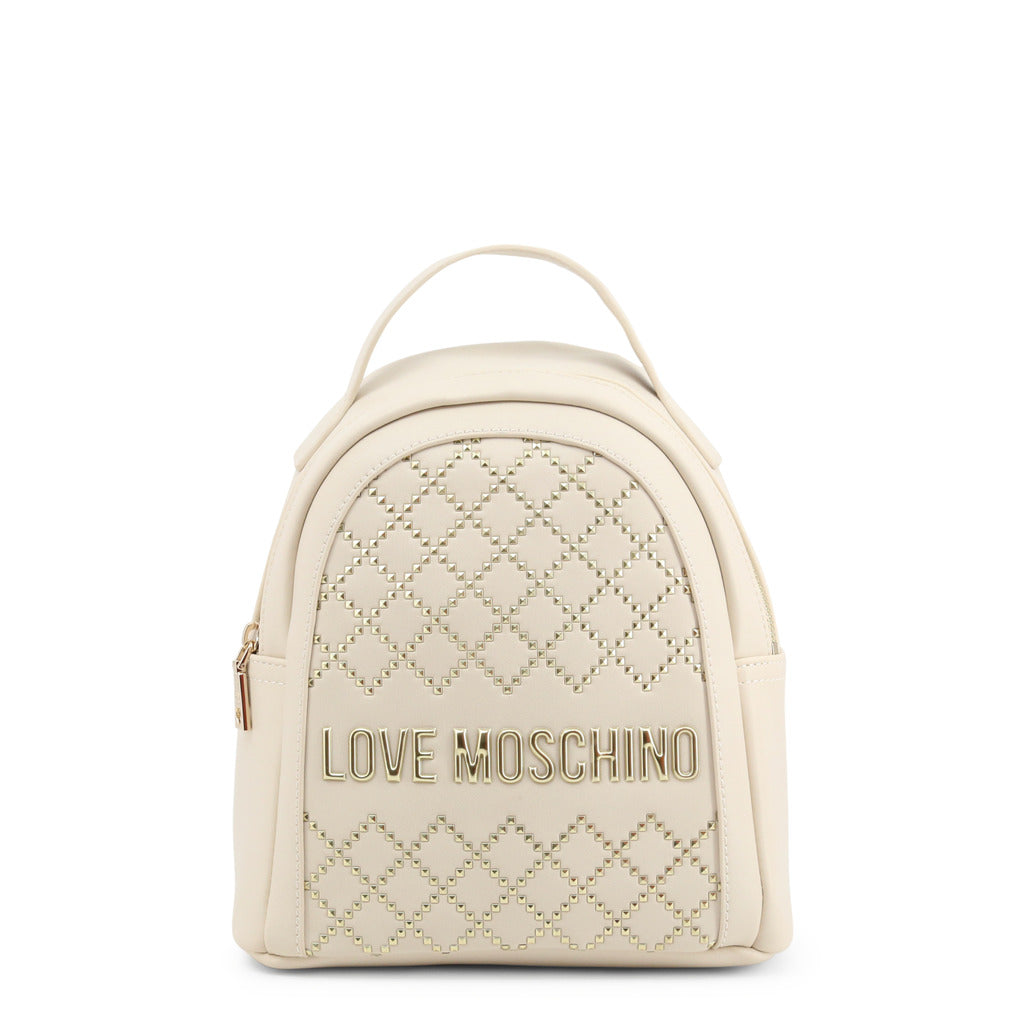 Love Moschino Womens White Backpack with Handle - JC4051PP1BLG