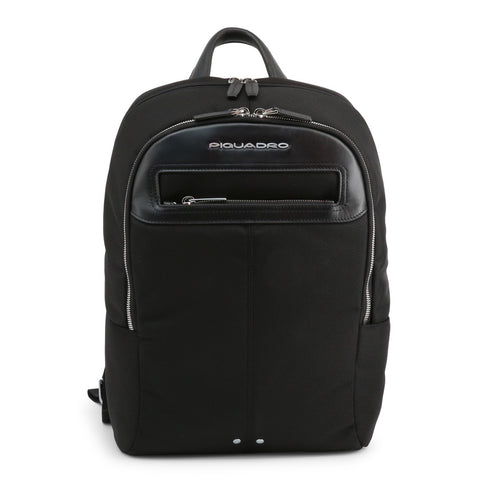 Piquadro Mens Black Backpack with Handle - CA3214LK2