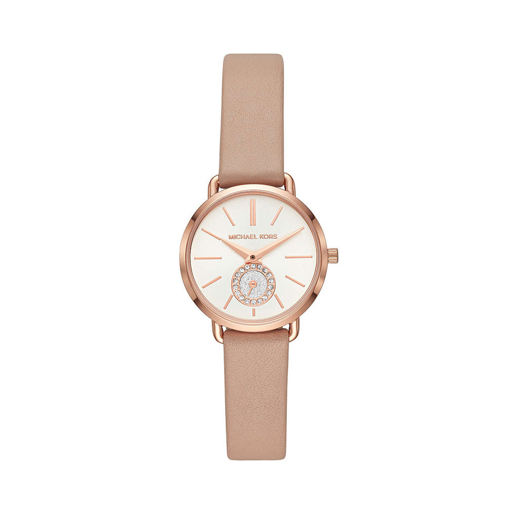 Michael Kors Womens Pink Watch with Leather Strap - MK2752