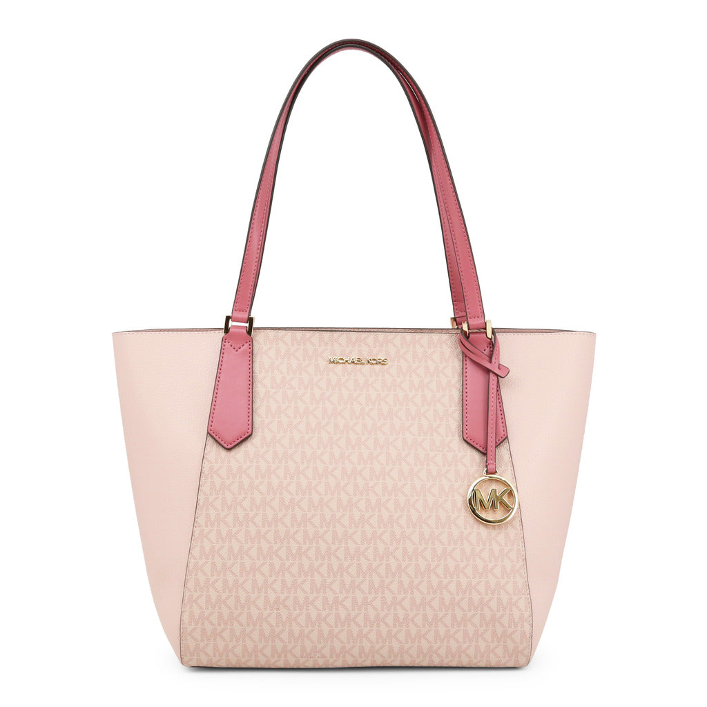 Michael Kors Womens Pink Shopper Bag with Logo Print - KIMBERLY_35H9GKFT7V