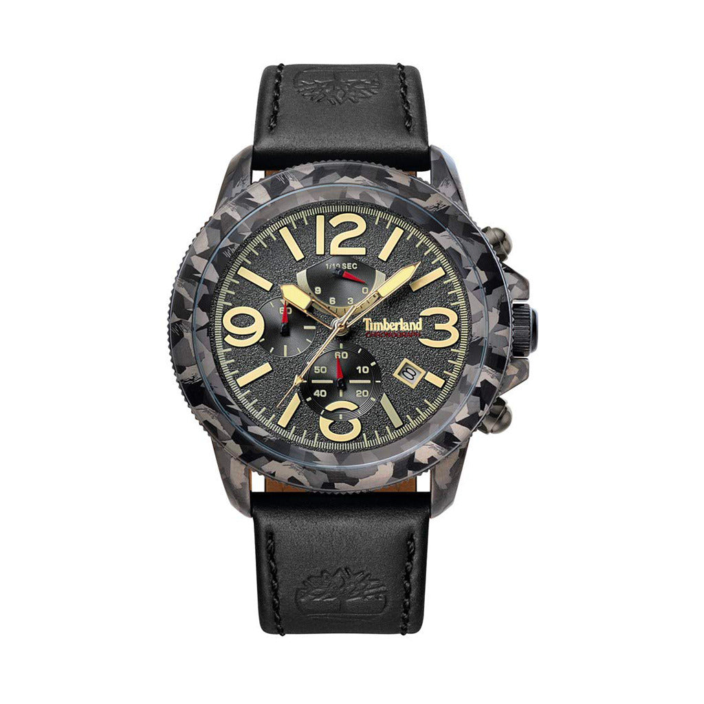Timberland Mens Black Watch with Steel Case - 15474JSGY