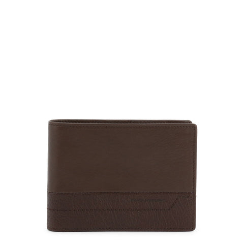 Piquadro Mens Brown Leather Wallet with Coin Pocket - PU1392S94R