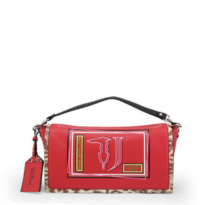 Trussardi Womens Red Shoulder Bag with Magnetic Fastening- LIQUIRIZIA_75B00417-99