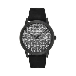 Emporio Armani Mens Black Watch with Leather Strap - AR1127