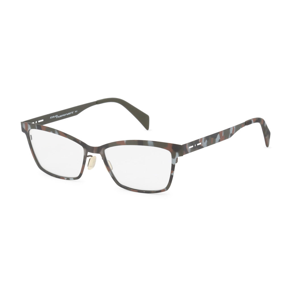 Italia Independent Womens Brown Camouflage Metal Frame Eyeglasses - 5029A