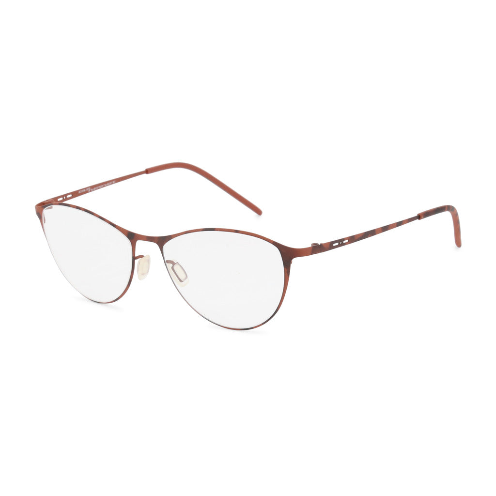 Italia Independent  Womens Brown Metal Frame Eyeglasses - 5203A