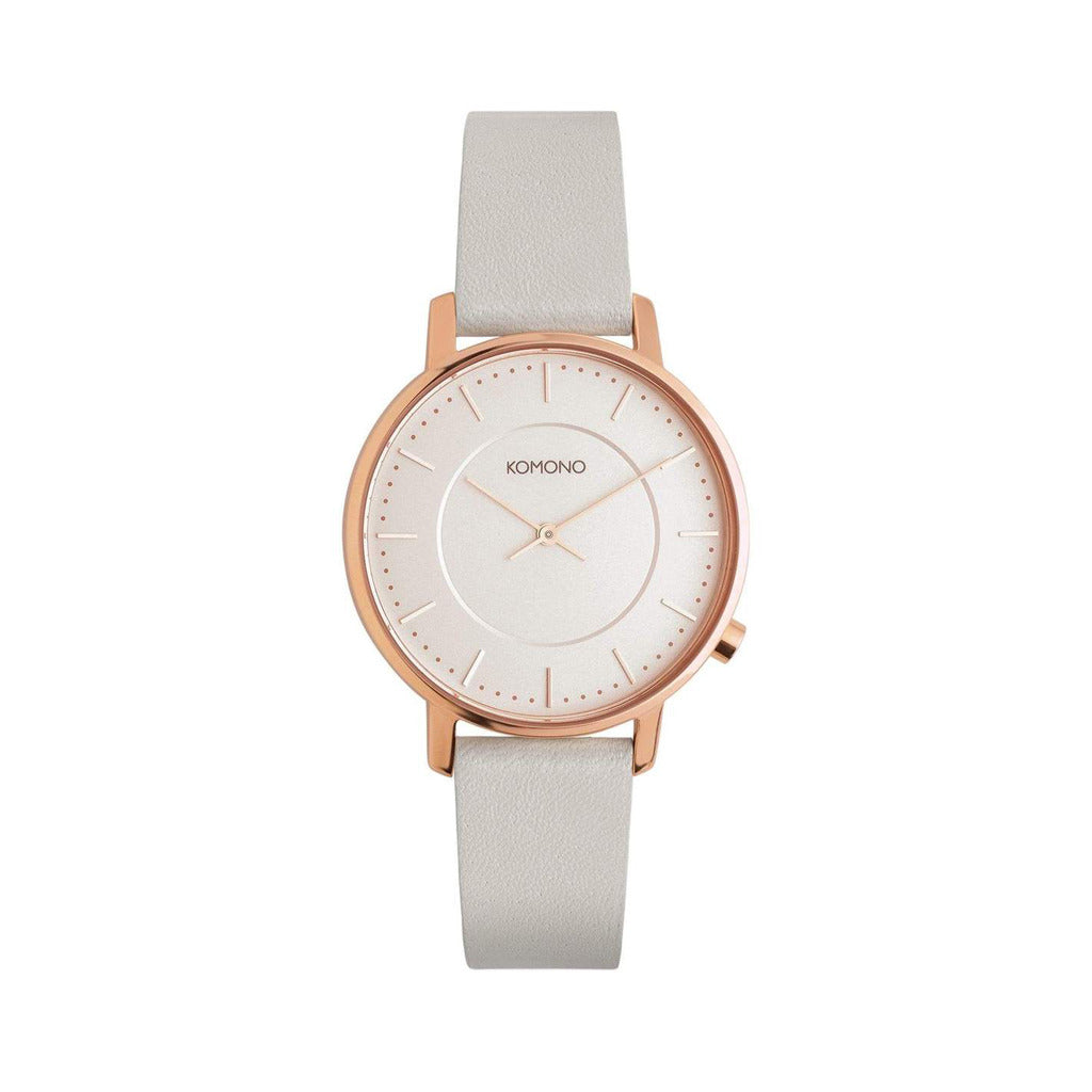 Komono Womens White Watch with Leather Strap - W4105