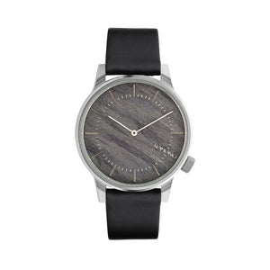 Komono Mens Black Watch with Steel Case  - W3015