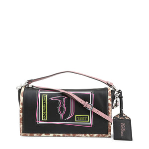 Trussardi Womens Black Shoulder Bag with Magnetic Fastening- LIQUIRIZIA_75B00417-99