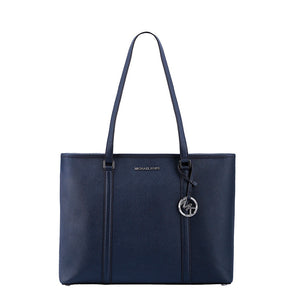 Michael Kors Womens Blue Shopper Bag with Zip Fastening - SADY_35T7SD4T7L