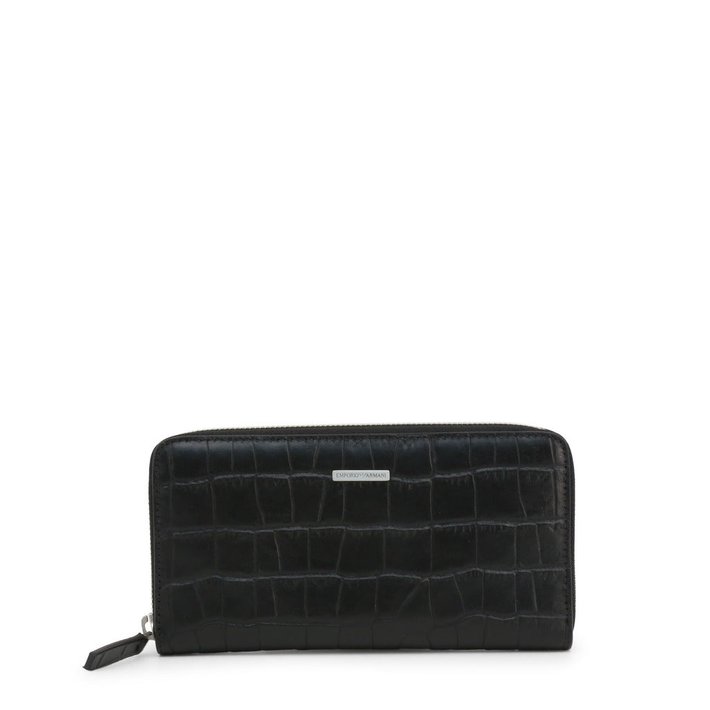 Emporio Armani Mens Black Leather Wallet - YEME49-YDE7E