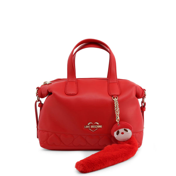 Love Moschino Womens Red Shoulder Bag with Zip - JC4085PP18LO