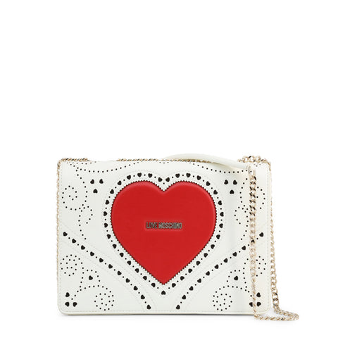 Love Moschino Womens White Crossbody Bag with Magnetic Fastening - JC4216PP0AKC