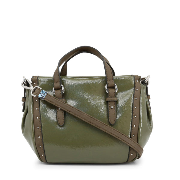 Trussardi Womens Green Shoulder Bag with Zip Fastening - PORTULACA_75B00538-99