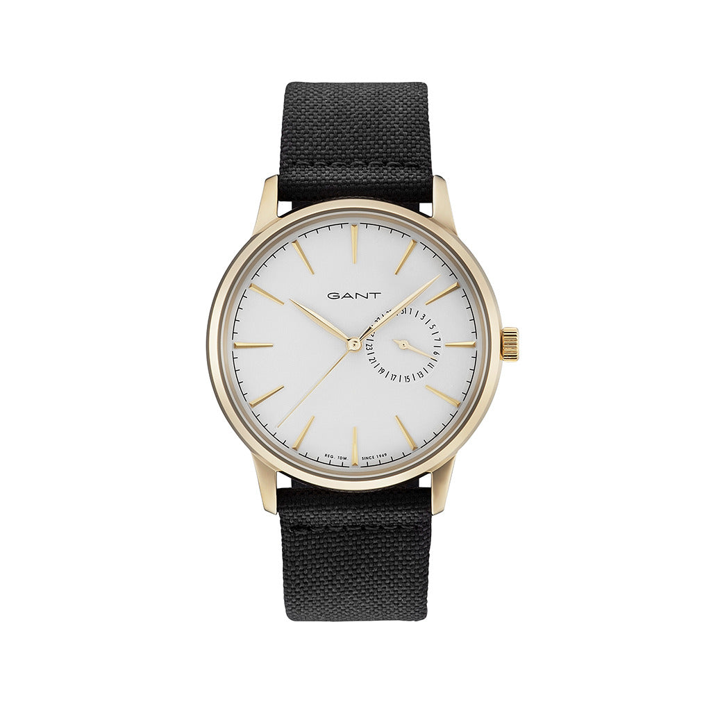 Gant Mens Black Strap Watch with White Face - STANFORD