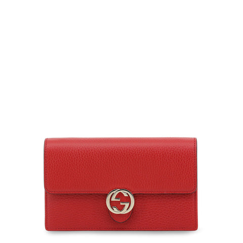 Gucci Womens Red Leather Crossbody Bag - 510314_CA00G