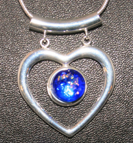 Imaginative Creations Fancy Heart Pendant #1 Memorable Glass Jewelry