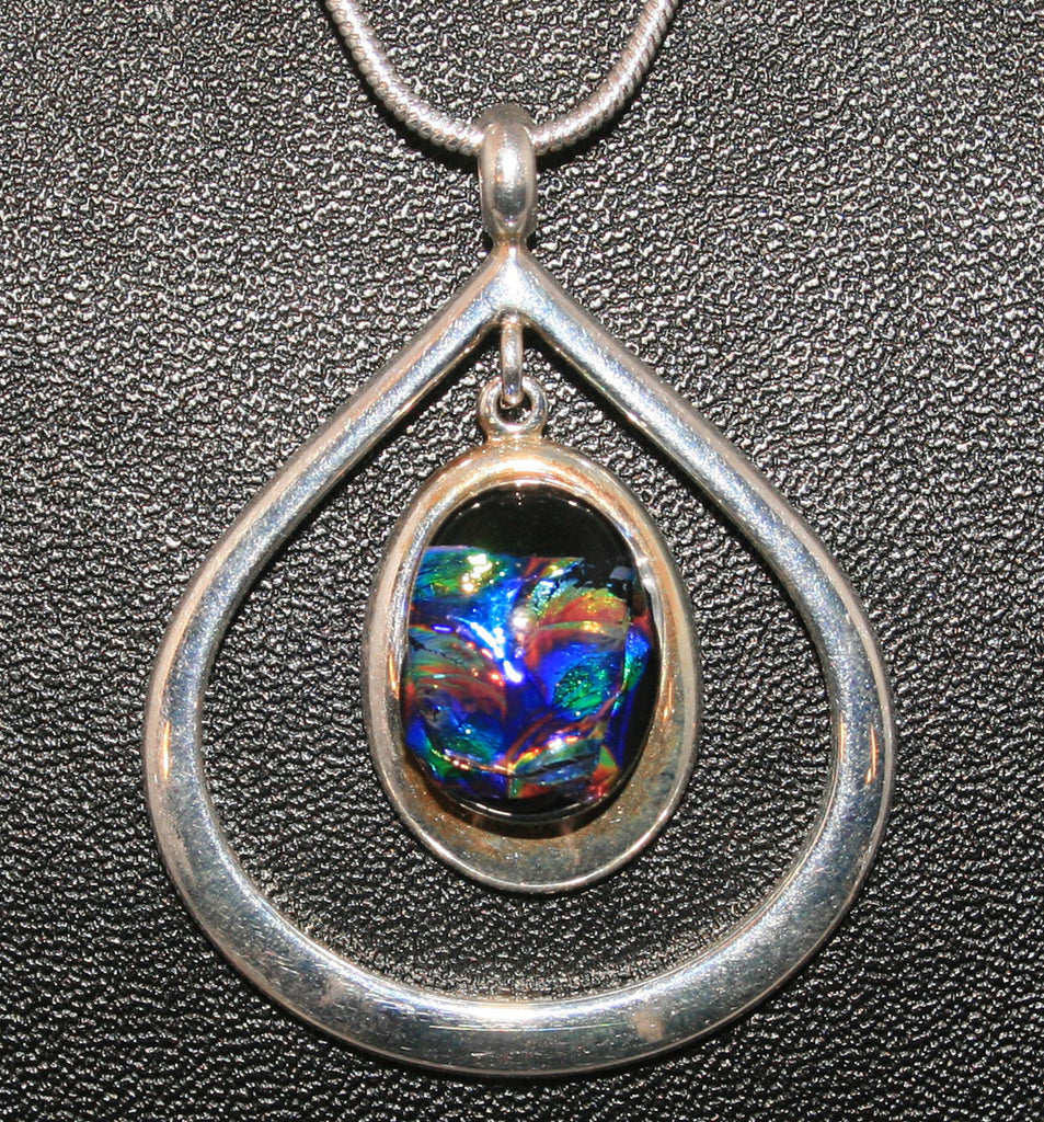 Imaginative Creations Silver Plated Copper Setting Drop Pendant