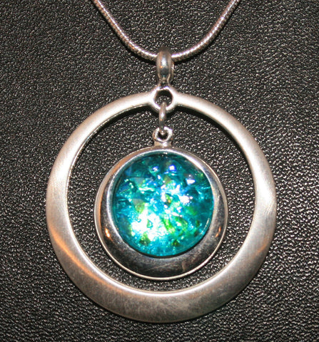 Imaginative Creations Circle Pendant #2 in Silver Circle Setting