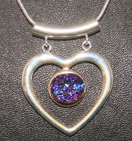 Imaginative Creations Fancy Heart Pendant #2 Memorable Glass Jewelry