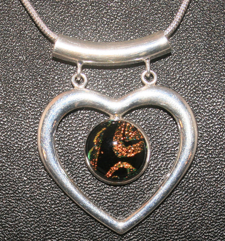 Imaginative Creations Fancy Heart Pendant #4 Memorable Glass Jewelry