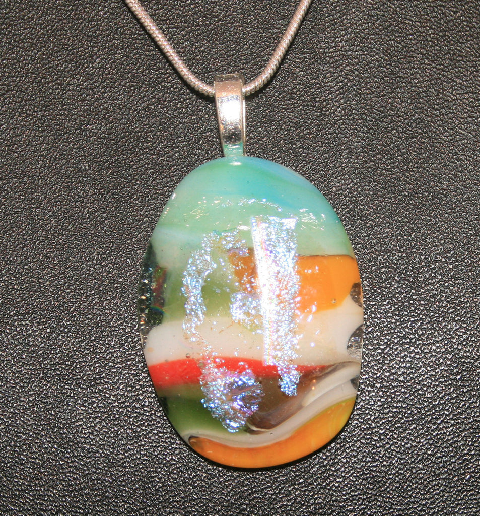 Imaginative Creations Bailed Pendant #45 Memorable Glass Jewelry