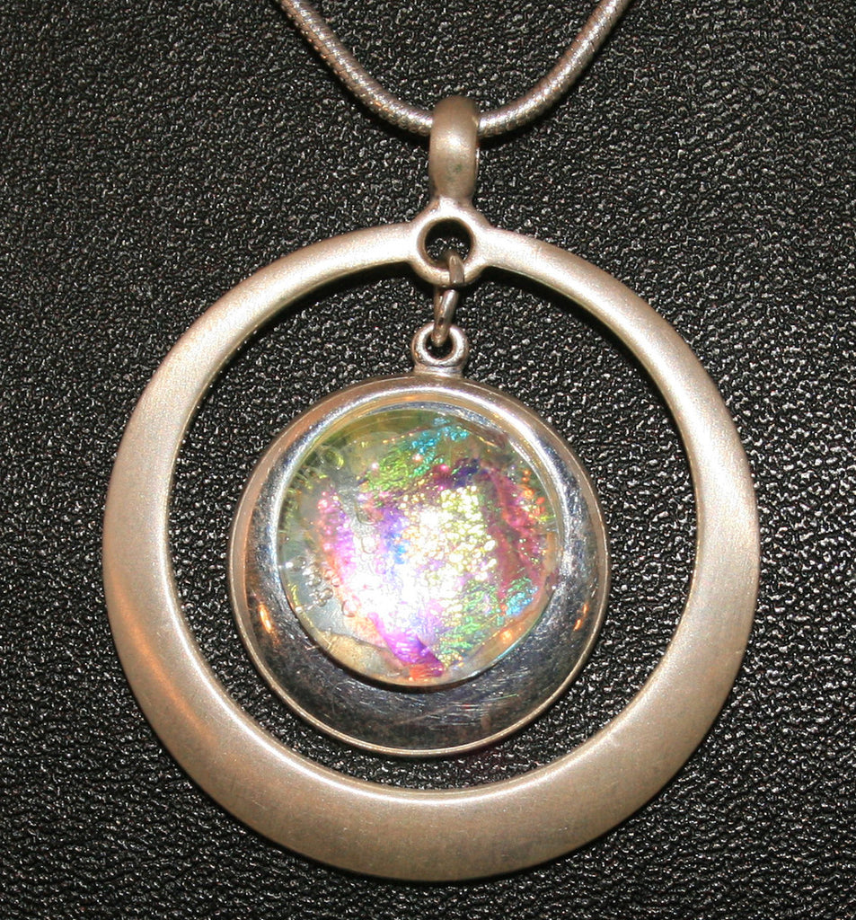 Imaginative Creations Silver Plated Copper Setting Circle Pendant