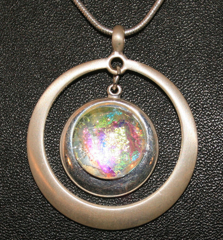Imaginative Creations Circle Pendant #5 Memorable Glass Jewelry