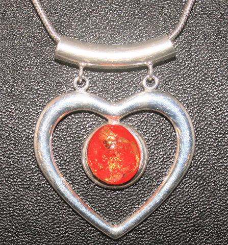 Imaginative Creations Fancy Heart Pendant #5 Memorable Glass Jewelry