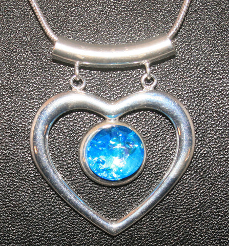 Imaginative Creations Fancy Heart Pendant #6 Memorable Glass Jewelry