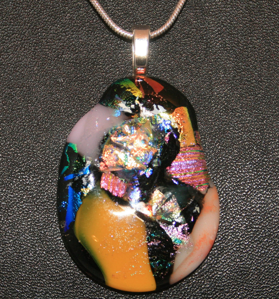 Imaginative Creations Bailed Pendant #62 Memorable Glass Jewelry