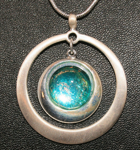 Imaginative Creations Circle Pendant #7 Memorable Glass Jewelry