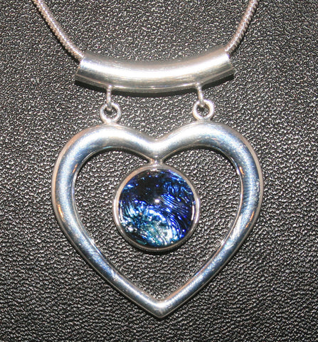 Imaginative Creations Fancy Heart Pendant #7 Memorable Glass Jewelry