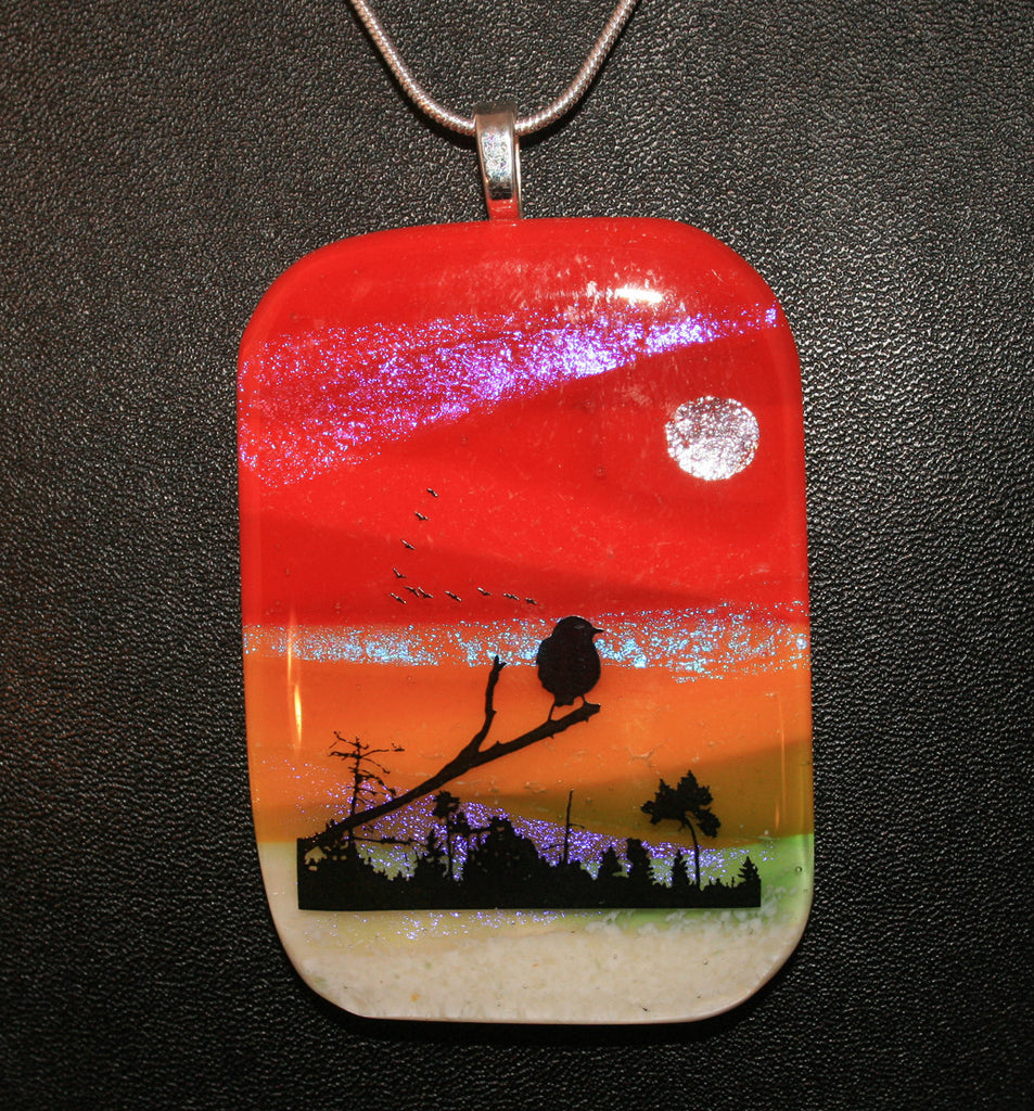 Imaginative Creations Wildlife Scenery Pendant #07 Memorable Jewelry