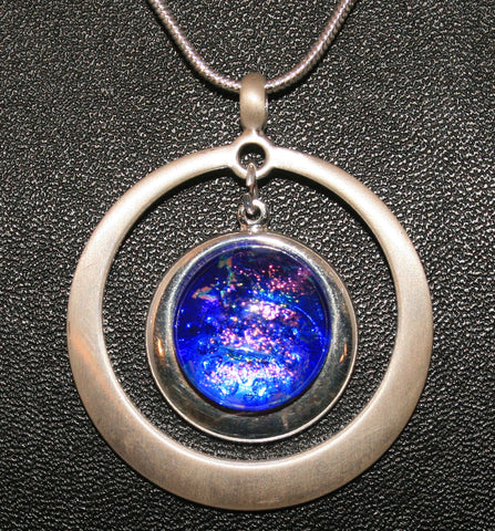 Imaginative Creations Circle Pendant #8 Memorable Glass Jewelry