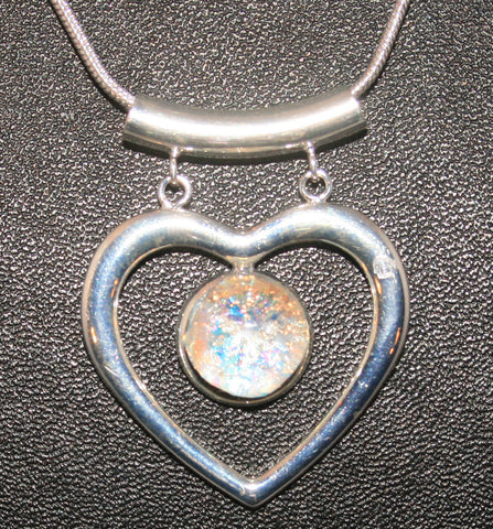 Imaginative Creations Fancy Heart Pendant #8 Memorable Glass Jewelry